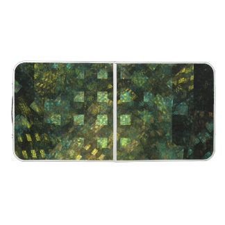Lights in the City Abstract Art Pong Table