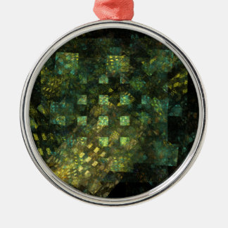 Lights in the City Abstract Art Round Christmas Ornament