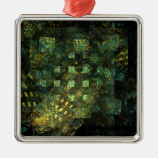 Lights in the City Abstract Art Square Christmas Ornament