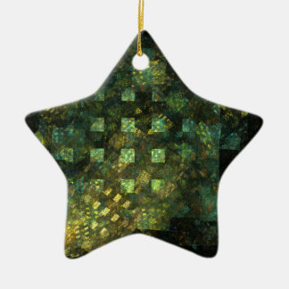 Lights in the City Abstract Art Star Ornament