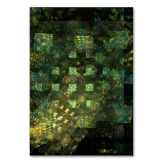 Lights in the City Abstract Art Table Card