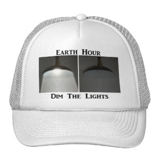 Lights On / Off - Dim the Lights for Earth Hour Mesh Hats
