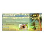 Lights Palms Save The Date Boarding Pass Tickets 10 Cm X 24 Cm Invitation Card