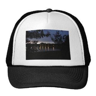 Lights Reflecting on Lake Swan Georgia Trucker Hat