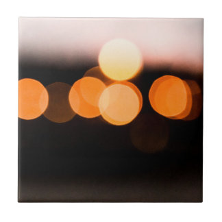 lights RK night Small Square Tile