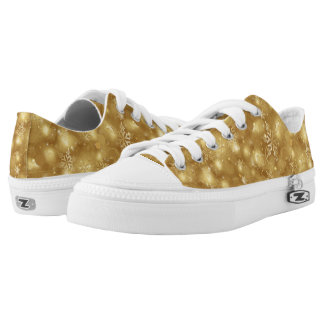 Lights & Snowflakes, Gold - Christmas Shoes