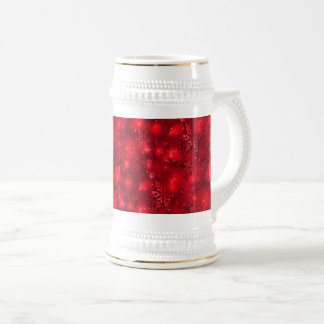 Lights & Snowflakes, Red - Christmas Beer Stein