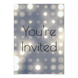 lights stage theatre elegant invite card