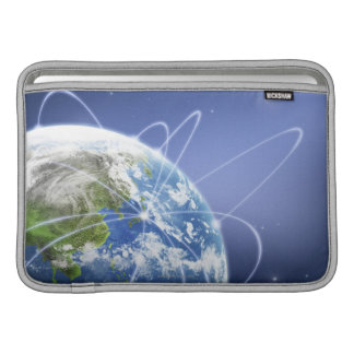 Lights Surrounding Earth Sleeve For MacBook Air