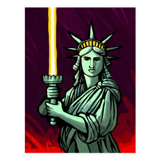 Lightsaber Liberty Postcard