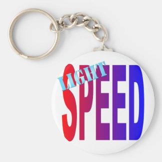 lightspeed basic round button key ring