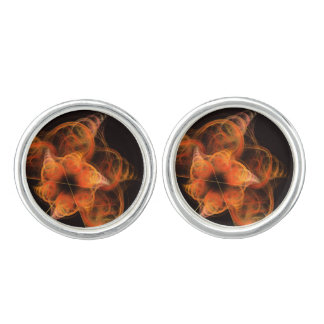 Lightworks Abstract Art Silver Plated Cuff Links