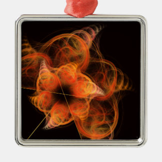 Lightworks Abstract Art Square Christmas Ornament
