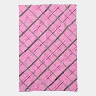 lignes violet patterns kitchen towels