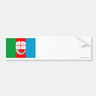 Liguria flag bumper sticker