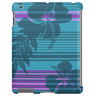 Lihue Hibiscus Stripe Hawaiian iPad Case