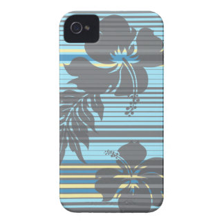 Lihue Hibiscus Stripe Hawaiian iPhone 4 Cases