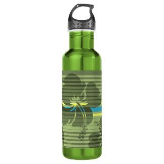 Lihue Hibiscus Stripe Hawaiian 710 Ml Water Bottle