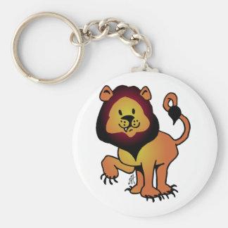 Likable Lion Basic Round Button Key Ring