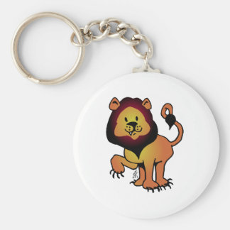Likable Lion Basic Round Button Key Ring