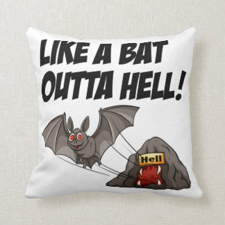 Like A Bat Outta Hell Cushion