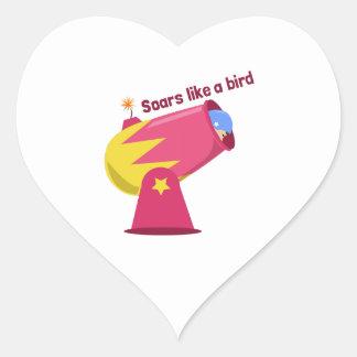 Like A Bird Heart Sticker