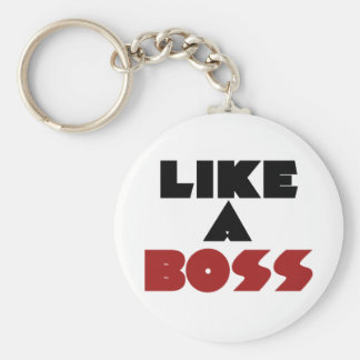 Like a Boss Basic Round Button Key Ring