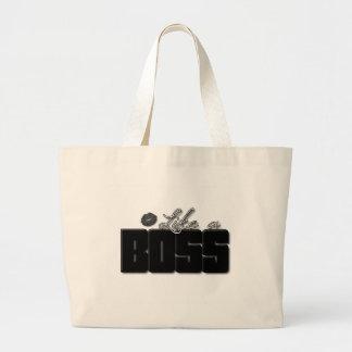 Like A Boss Black Bold lips Jumbo Tote Bag