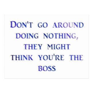 like a boss postcard