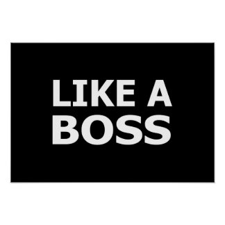 Like A Boss Posters