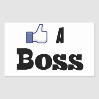 Like A Boss Rectangular Sticker