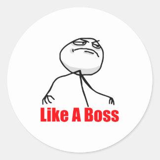 Like a Boss Round Sticker