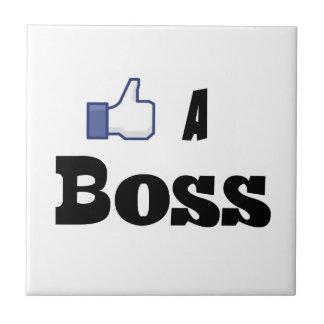 Like A Boss Small Square Tile