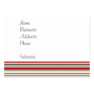 Like a Boss Sock Monkey with Tie on Red Stripes Business Card