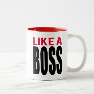 Like A Boss Two-Tone Coffee Mug