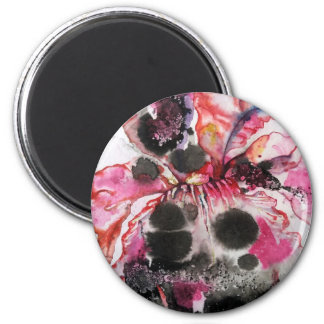 like a butterfly 6 cm round magnet