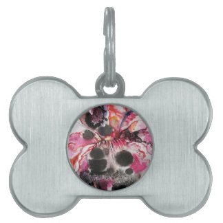 like a butterfly pet tag