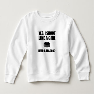 Like A Girl Hockey Sweatshirt