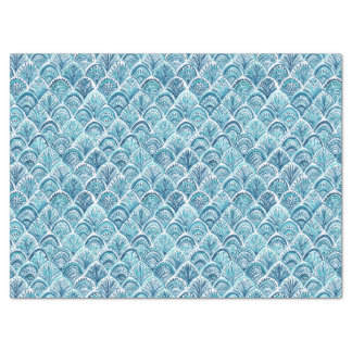LIKE A MERMAID Nautical Fish Scales Pattern Tissue Paper