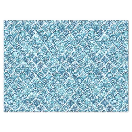 LIKE A MERMAID Nautical Fish Scales Pattern Tissue