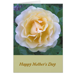 """Like A Mother To Me"" Mother's Day Card, Rose phot Greeting Card"