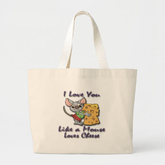 Like a Mouse Loves Cheese violet.png Bags