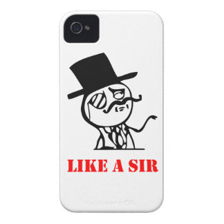 Like a sir - meme iPhone 4 case