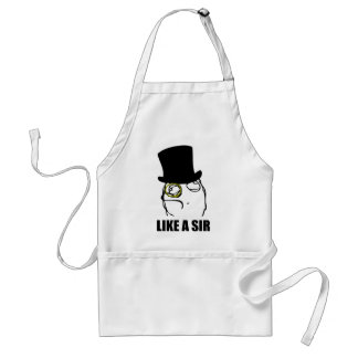 Like a Sir Monocle Rage Face Meme Aprons