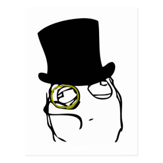 Like a Sir Rage Face Meme Postcard