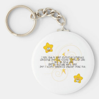 like a star shining brightly basic round button key ring