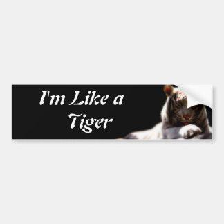 Like A Tiger Bumper Sticker
