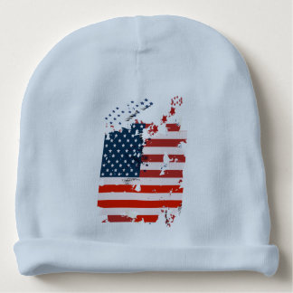 Like an American. USA grunge flag Baby Beanie
