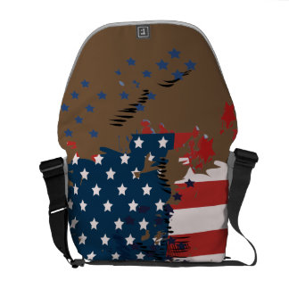 Like an American. USA grunge flag Commuter Bag