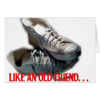 Like an Old Friend Sneaker Greeting Card